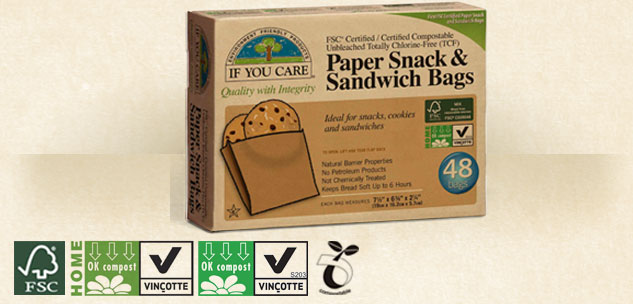 Paper Snack & Sandwich Bags