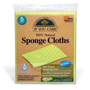 Natural Sponge Cloths - Reusable Many Times!