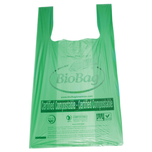 "BioBag regular shopper bag 16.1"" x 19.7"" made from plants"