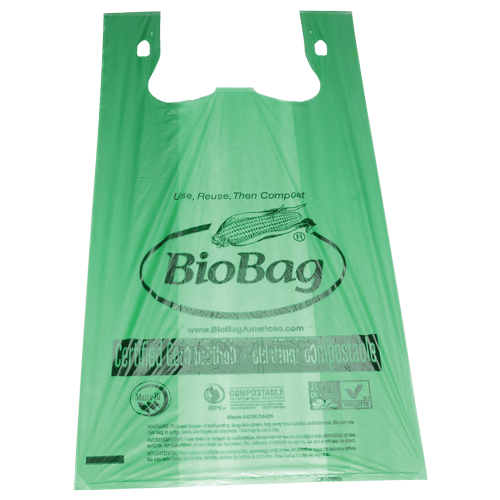 "BioBag large shopper bag 17.7"" x 22.8"" made from plants"