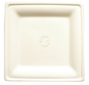 "Bagasse Square Plates - Small (6.25 x 6.25"")"