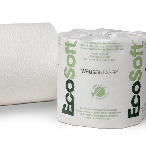 EcoSoft 1,000 sheet 1-Ply Toilet Tissue