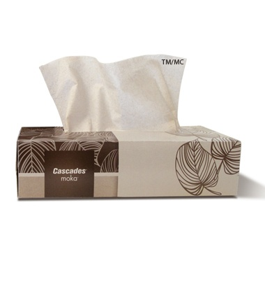 Moka Natural Unbleached Recycled Facial Tissue