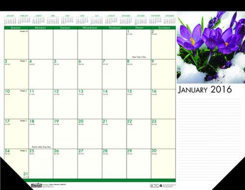 "HOD1596 Earthscapes Flowers Desk Pad 18 1/2"" x 13"""
