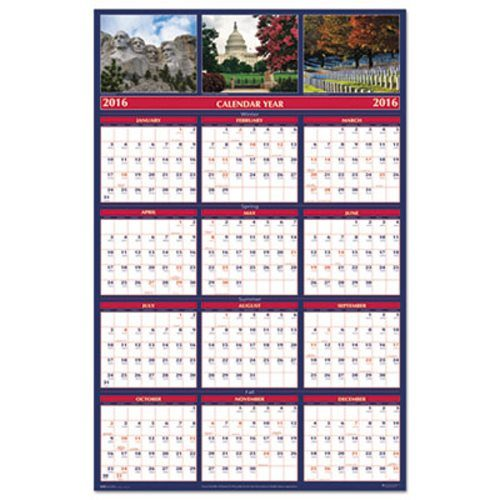 HOD3986 Earthscapes Monuments Laminated Wall Planner