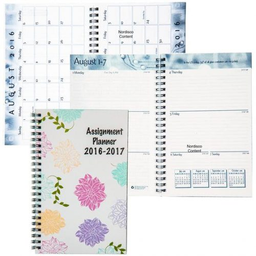 "Cool School Planner ""Flowers"" HOD274RTG-70"