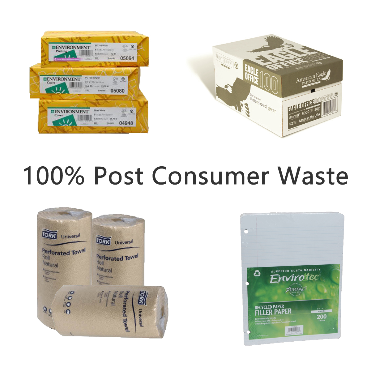 100% Post Consumer Waste (PCW)
